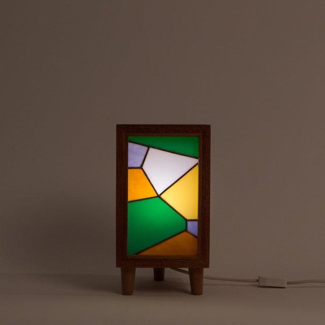 Handmade Stained Glass Lamp by Bernadette Prada - Image 7 of 8