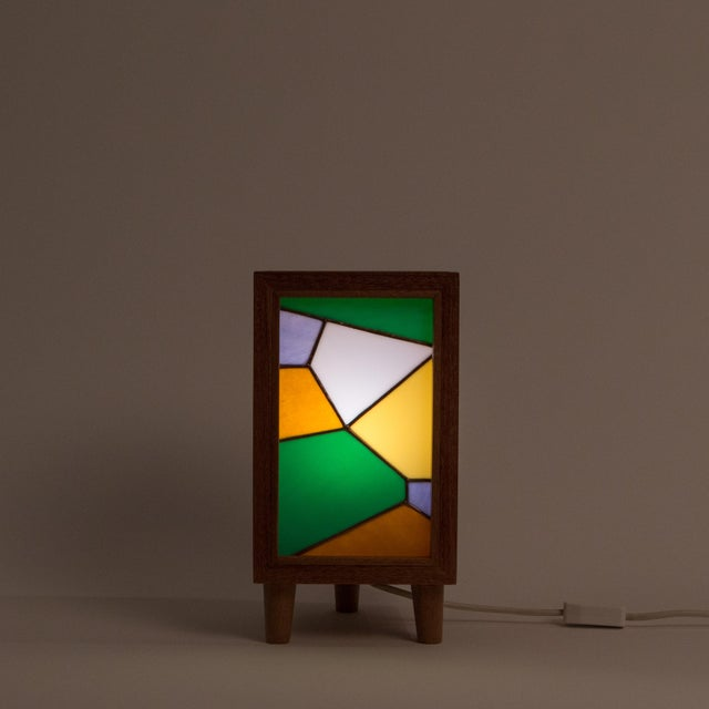Image of Handmade Stained Glass Lamp by Bernadette Prada
