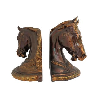 Dodge Horsehead Bookends - Pair