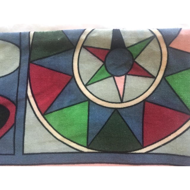 Vintage Pucci Style Velvet Throw Pillow Cover - Image 7 of 9