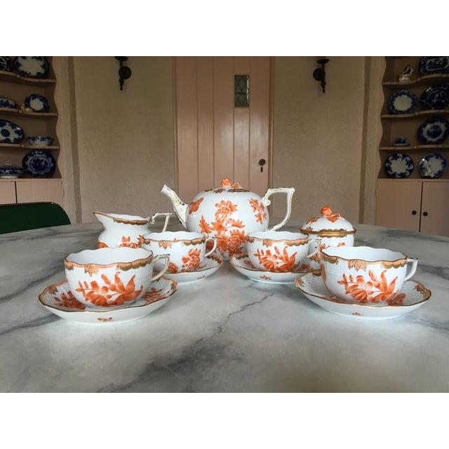 Herend Fortuna Pattern Tea Set - Set of 7 - Image 4 of 11