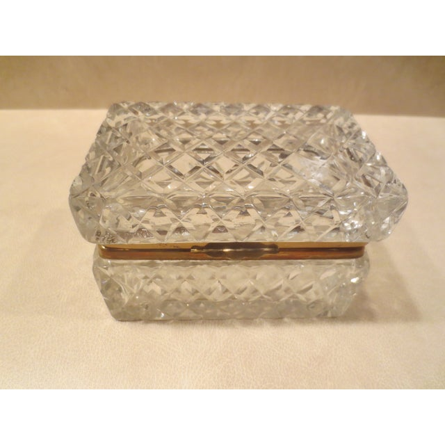 Large Cut Glass & Brass Antique French Vanity Box - Image 2 of 7