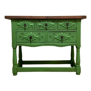 Carved Spanish Console Table