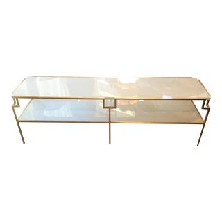 Gold Leaf & White Lacquer Coffee Table