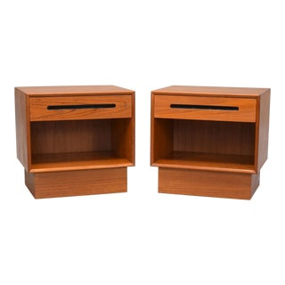 Danish Modern Teak Nightstands by Westnofa