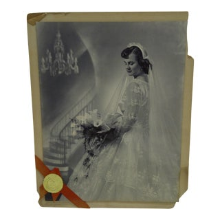 C. 1955 Portrait of a Bride by Vincent Evans Jr. Black & White Photograph