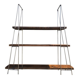 Industrial Steel & Wood Shelf