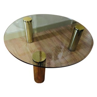 Brass and Glass Cocktail Table, Pace Style