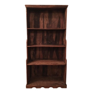 Antique Rustic Solid Wood Bookcase