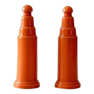 vintage push top salt and pepper shakers