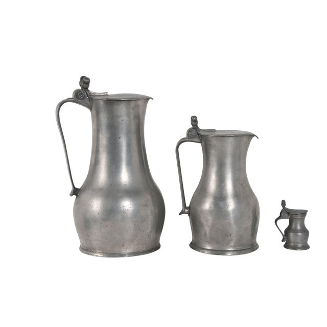 Pewter Acorn Pitchers - Set of 3 - Image 1 of 5