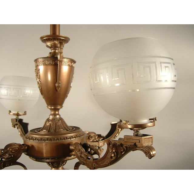 Renaissance Spelter Gas Fixture (4-Light) - Image 8 of 8