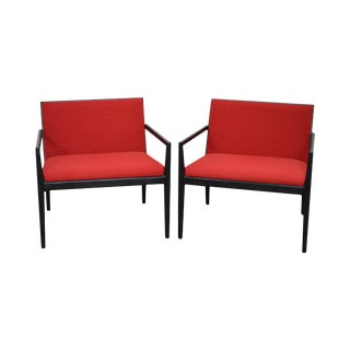 Mid Century Modern Dunbar Style Pair of Lounge Chairs