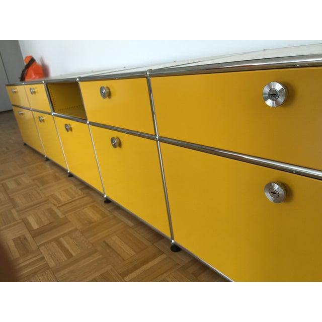 Golden Yellow USM Haller Credenza - Image 6 of 6