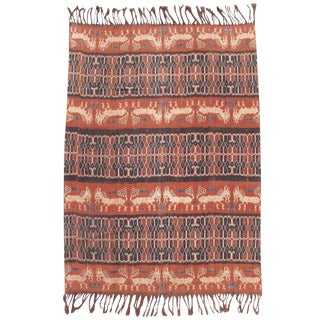 Indonesian Ikat with Stylized Horses