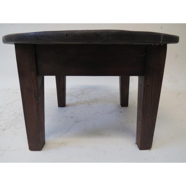 Rustic Pine Wood Coffee Table: 1930s Rustic Pine Coffee Table