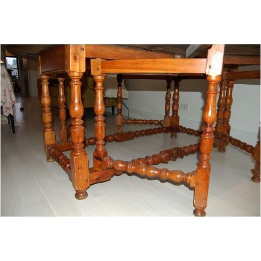 Antique Drop Leaf Gate Round Dining Table - Image 3 of 4