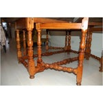 Image of Antique Drop Leaf Gate Round Dining Table