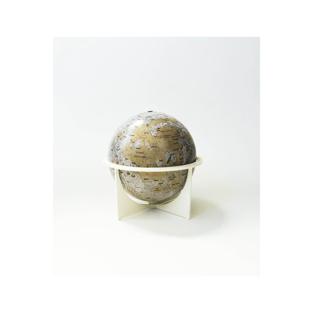 Image of Mid-Century Tin Moon Globe