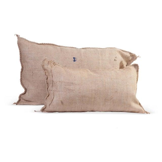 Image of Burlap Pillows IV - A Pair