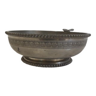 Lily Motif Pewter Ashtray