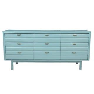 Mid-Century Blue Dresser
