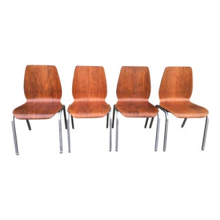 Arne Jacobsen Style Chairs - Set of 4