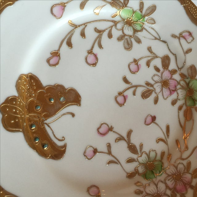 Mid-Century Asian Butterfly Plates - Set of 4 - Image 8 of 10