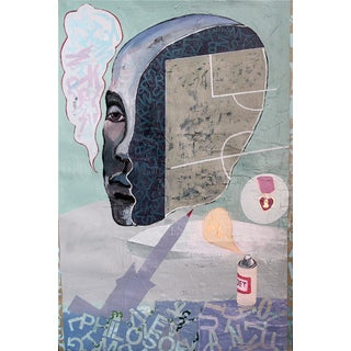 George Hughes Surrealist Abstract Painting