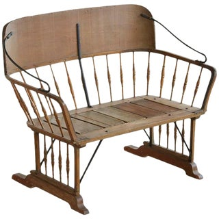 Antique Buggy or Sleigh Seat Bench with Iron Works