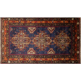 "Persian Oriental Balouch Wool Rug - 3' 8"" X 6' 5"""