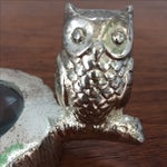 Image of Vintage Silver Metal Owl Magnifying Glass