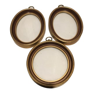 Vintage Brass Frames - Set of 3