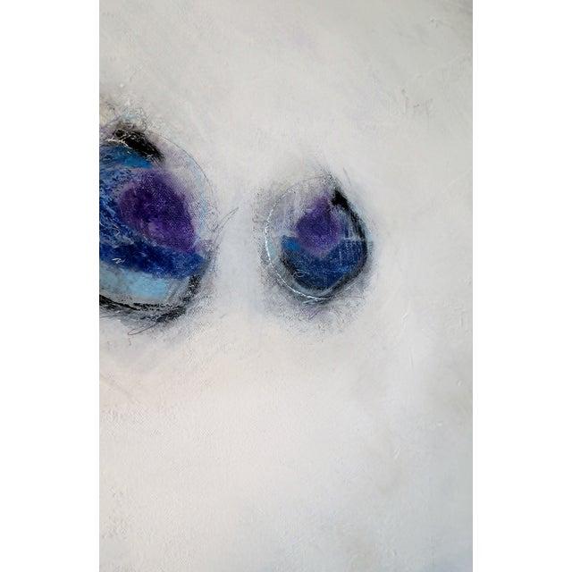 Image of Zen, Blue/Lilac I. 2016 Original Oil Pastel