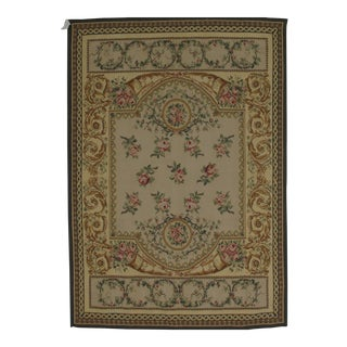 "French Aubusson Design Hand-Woven Wool Rug -2'4"" x 5'2"""