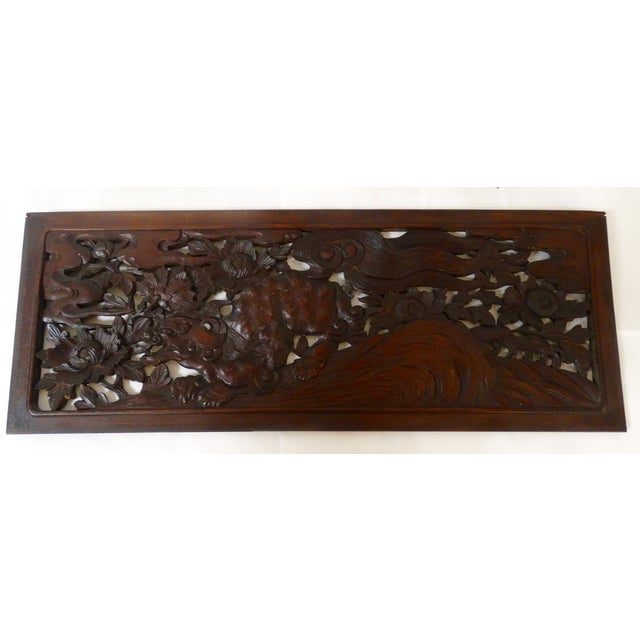 Chinese Carved Panel - Image 2 of 3