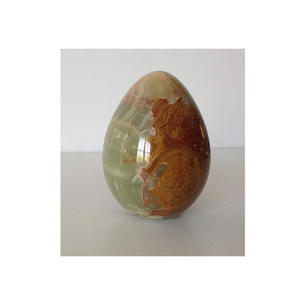 Onyx Large Egg-Shaped Paperweight or Accent - Image 2 of 5