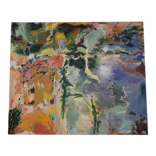 Mid-Century Modern Colorful Abstract Painting