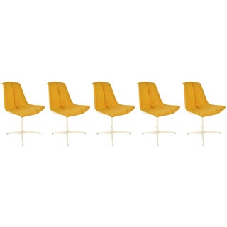 Set of 5 Richard Schultz for Knoll Dining Chairs