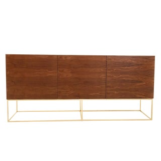 Floating Base Walnut Credenza
