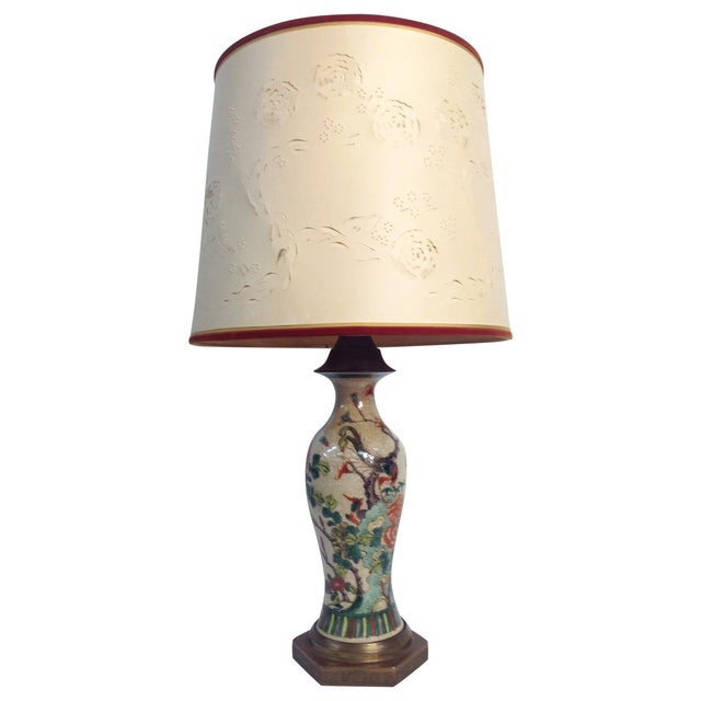 Antique Porcelain Asian Style Table Lamp - Image 1 of 9