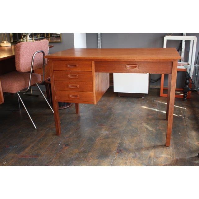 Danish Modern Teak Student Desk - Image 3 of 10