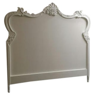 White Painted King Size French Headboard