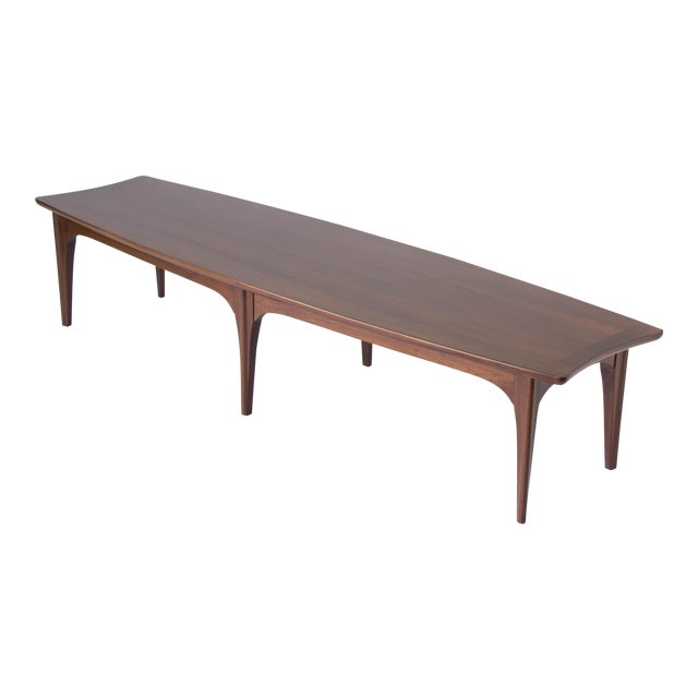 American Walnut & Rosewood Surfboard Coffee Table - Image 1 of 7