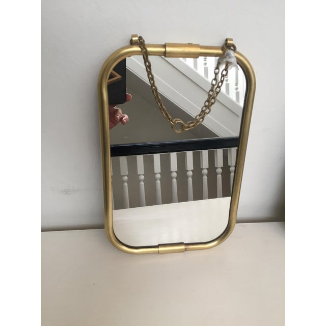 Art Deco Brass Mirror - Image 3 of 5
