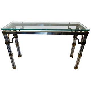 Mid Century Modern Mixed Metal Console