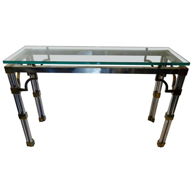 Image of Mid Century Modern Mixed Metal Console