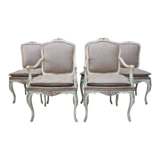 French Painted Dining Chairs - Set of 6