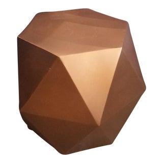 Crate & Barrel Geometric Bronze Lucida Side Table