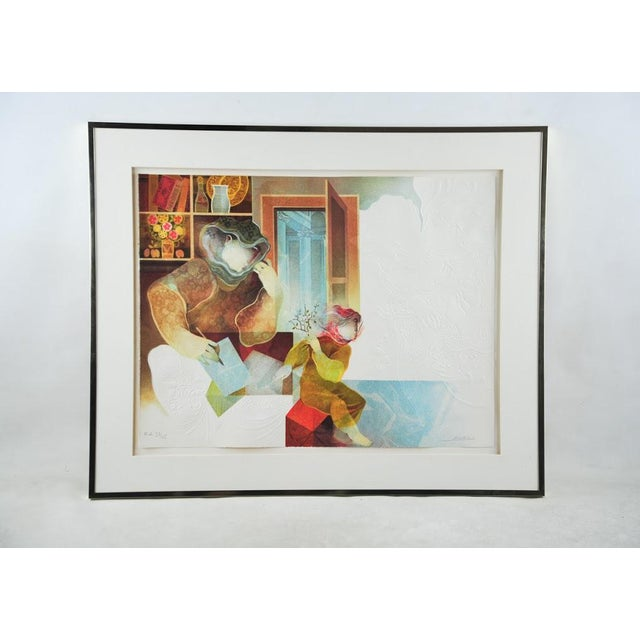 "Original Sunol Alvar Embossed Lithograph ""La Diligence and La Folie"" - Image 2 of 11"